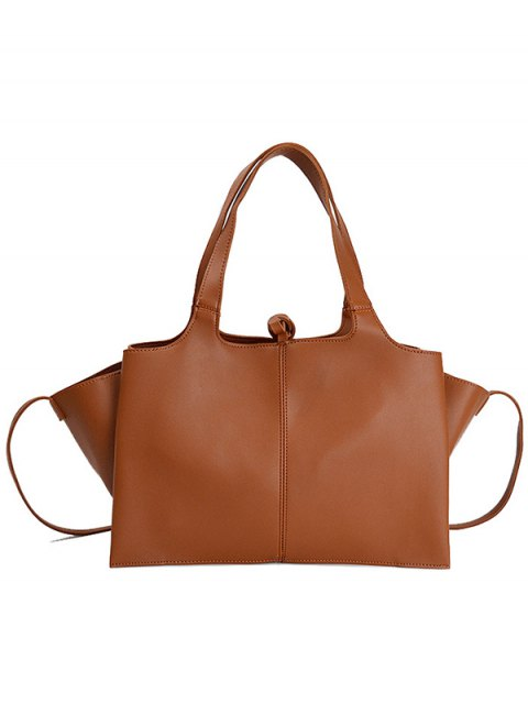 outfit Straps PU Leather Winged Handbag - BROWN  Mobile