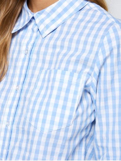 chic Checked Boyfriend Pocket Shirt - PLAID XS Mobile
