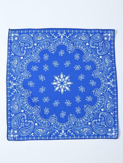 Paisley Floral Printed Bandana - BLUE  Mobile