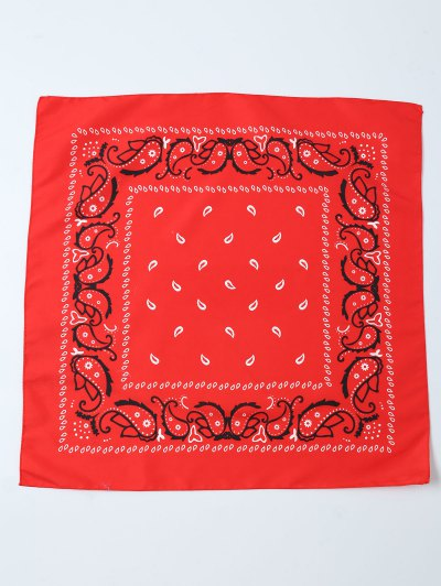 Paisley Printed Bandana - RED  Mobile
