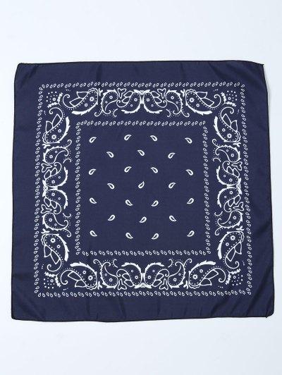 Paisley Printed Bandana - PURPLISH BLUE  Mobile