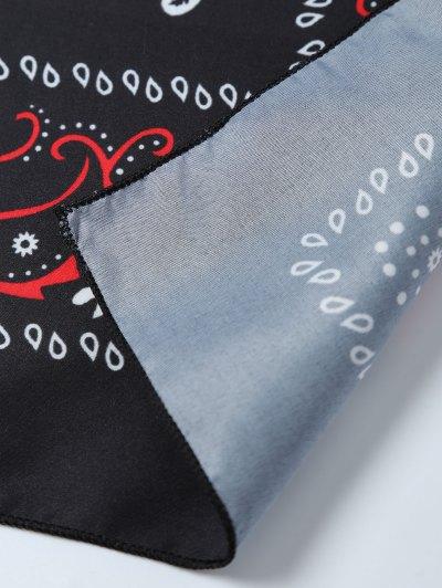 Paisley Printed Bandana - BLACK  Mobile
