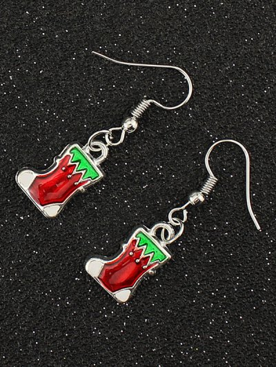 Christmas Boots Gift Earrings - SILVER  Mobile