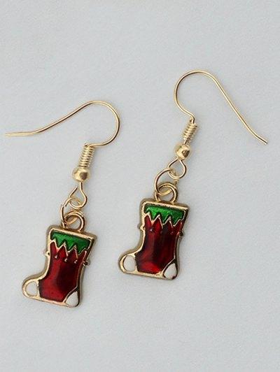Christmas Boots Gift Earrings - GOLDEN  Mobile