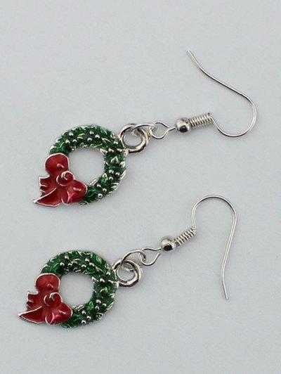Christmas Gift Garland Earrings - SILVER  Mobile