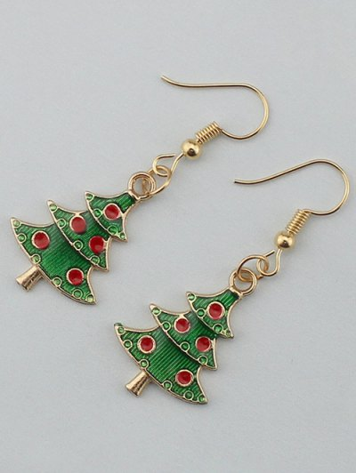 Christmas Tree Gift Earrings - GOLDEN  Mobile