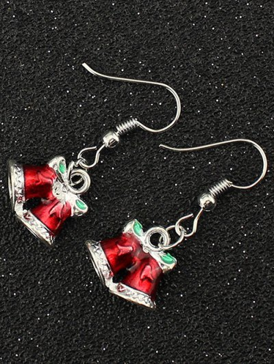 Christmas Bowknot Bells Drop Earrings - SILVER  Mobile