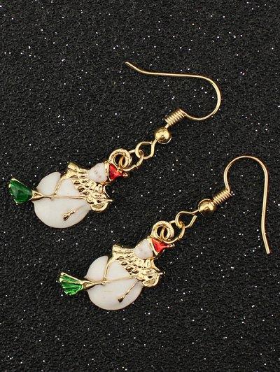 Christmas Snowman Gift Earrings - GOLDEN  Mobile