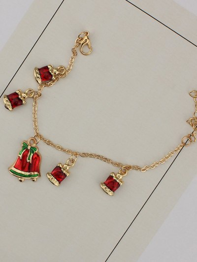 Christmas Bows Bells Bracelet - GOLDEN  Mobile