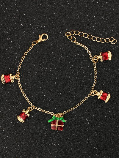 Christmas Gift Bells Charm Bracelet - GOLDEN  Mobile