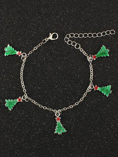 Christmas Tree Pentagram Bracelet - SILVER  Mobile