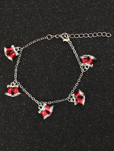 Bows Christmas Bells Bracelet - RED  Mobile