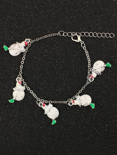 Snowman Christmas Bracelet - WHITE  Mobile