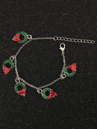 Christmas Bows Garland Charm Bracelet - SILVER  Mobile