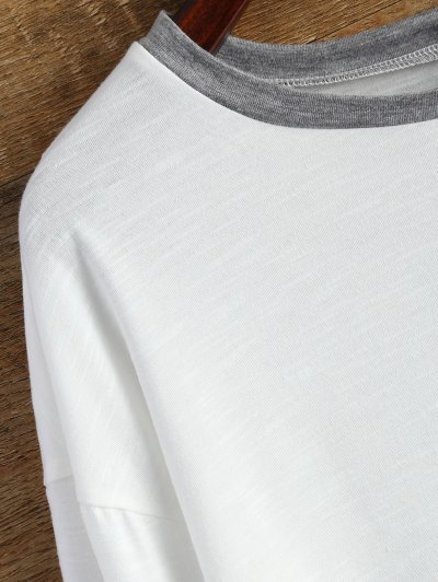 Buttoned Long Sleeve Tee - WHITE M Mobile