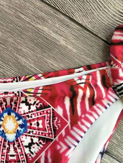 Cami Printed Cut Out Bikini Set - RED M Mobile