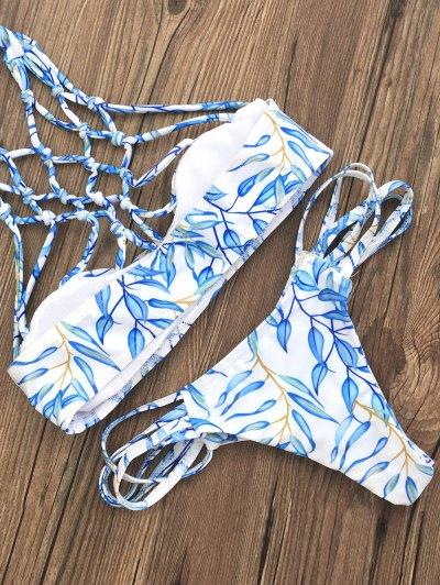 Cut Out Strappy Bikini Set - BLUE S Mobile