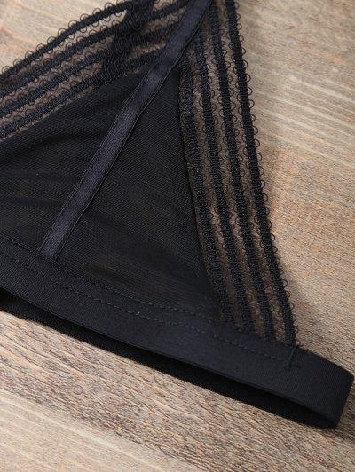 Push Up Adjustable Straps Swim Top - BLACK XL Mobile