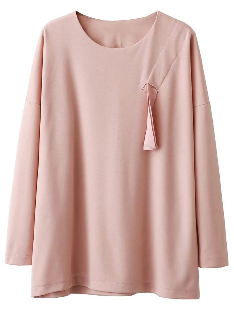 Drop Shoulder TopClothes<br><br><br>Size: S<br>Color: PINK