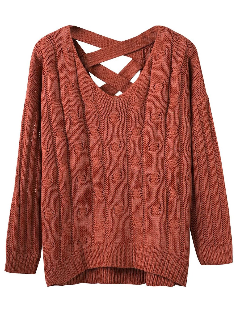 Relaxed Fit Cable Knit Sweater