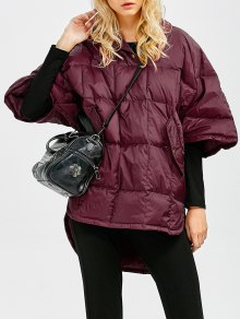 Oversized High-Low Down Coat