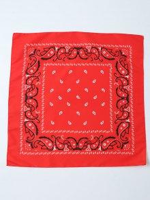 Paisley Printed Bandana - Red