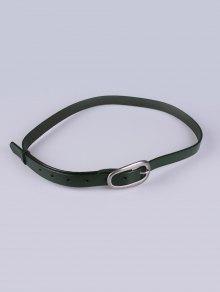Buy Faux Leather Pin Buckle Skinny Belt GREEN