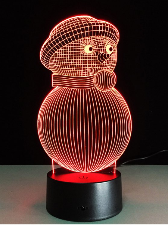 Christmas 3D Snowman Touch Colorful Light -   Mobile