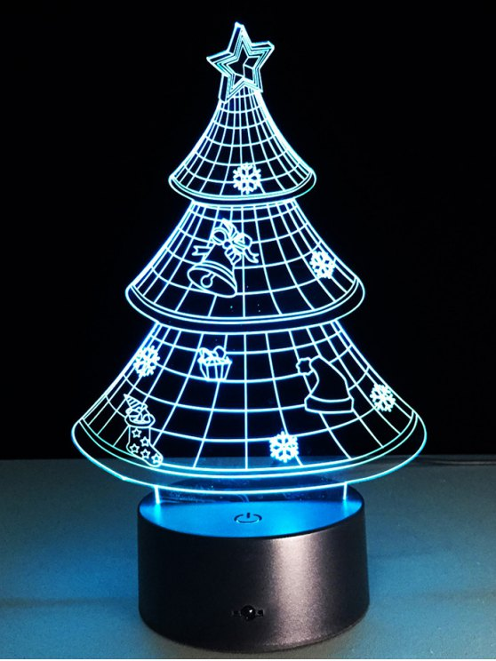 3D Christmas Tree Shape Touch Night Light -   Mobile