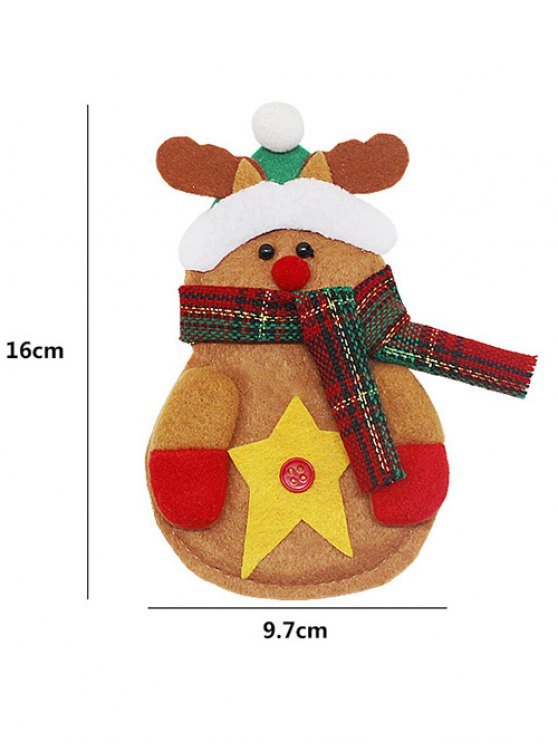 Merry Christmas Deer Shape Tableware Cover Bag -   Mobile