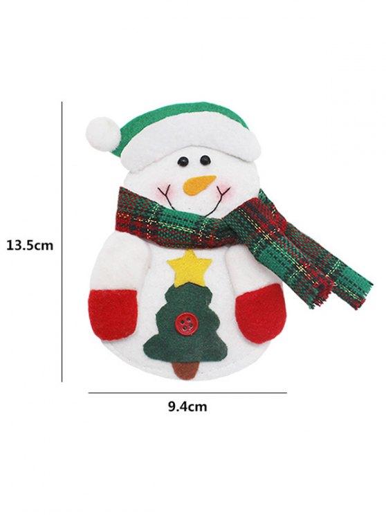 Christmas Snowman Tableware Cover Bag -   Mobile
