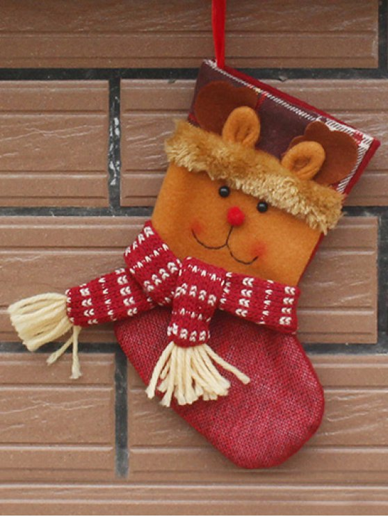 Christmas Deer Patern Stocking Sock -   Mobile