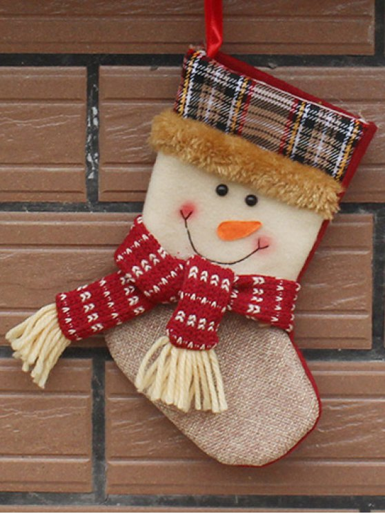 Christmas Tree Snowman Hanging Kids Present Sock -   Mobile