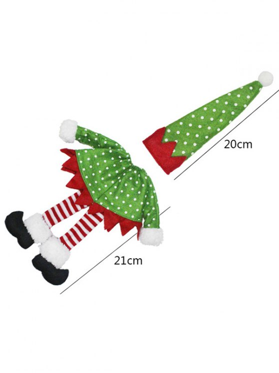Christmas Dot Wine Bottle Cover Bag -   Mobile