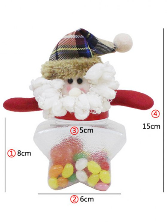 Christmas Transparent Star Shape Candy Jar -   Mobile