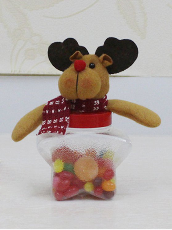 Christmas Toy Star Shape Candy Jar -   Mobile