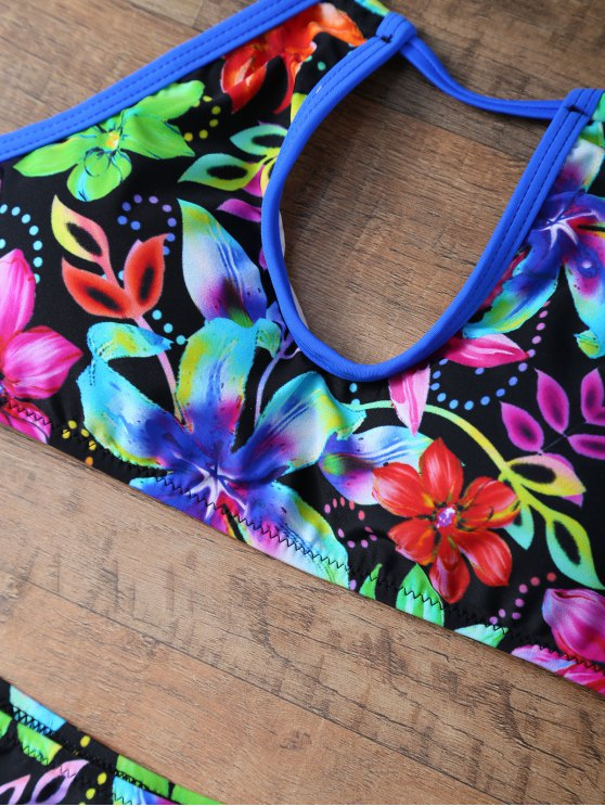 Floral Print Halter Neck Bikini - FLORAL S Mobile