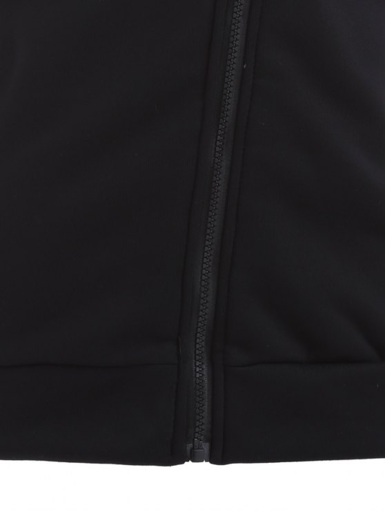 Zip Through Hoodie - BLACK S Mobile
