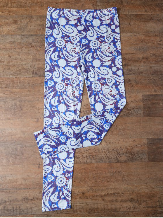Plant Printed Leggings - FLORAL XL Mobile