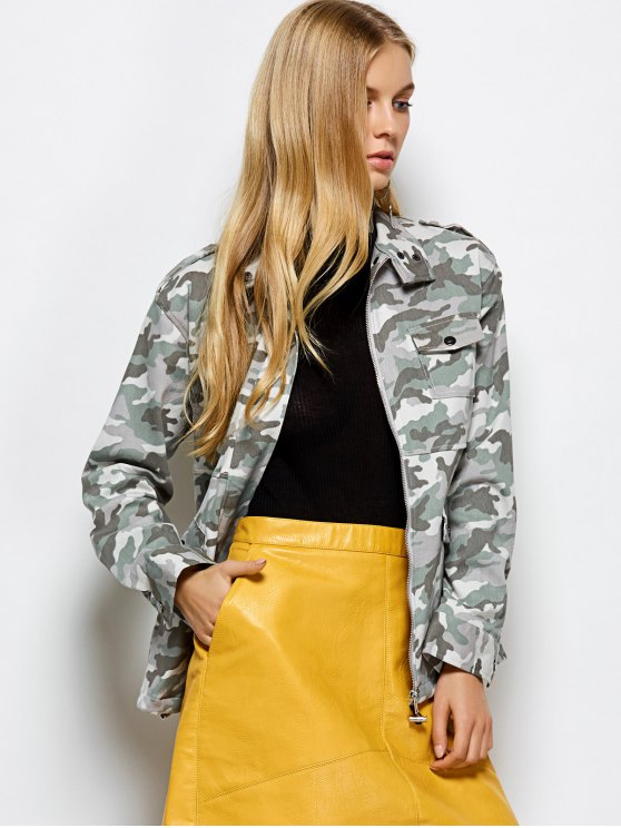 Camouflage Utility Jacket - CAMOUFLAGE COLOR L Mobile