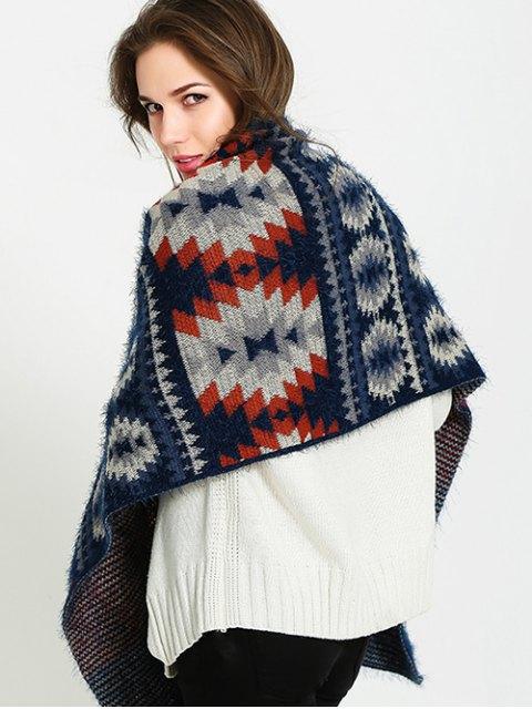 women Snowflake Pattern Scarf - CADETBLUE  Mobile