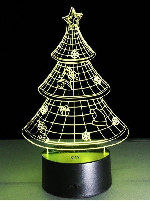 buy 3D Christmas Tree Shape Touch Night Light -   Mobile