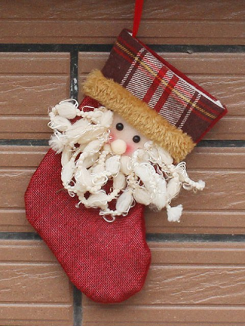 lady Christmas Tree Santa Hanging Kids Present Sock -   Mobile