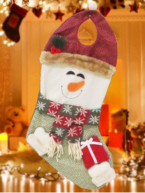 outfit Snowman Hanging Present Stocking Bag -   Mobile