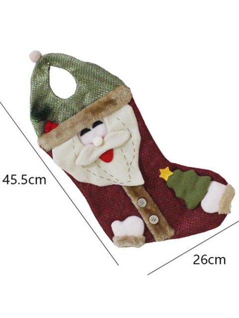 hot Santa Christmas Hanging Present Stocking Bag -   Mobile