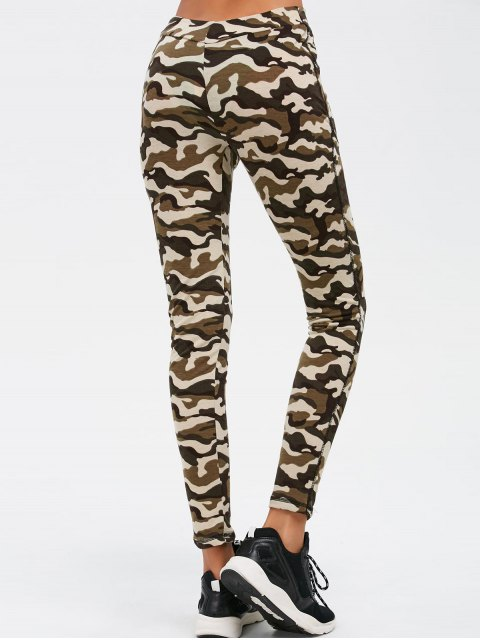 online Camouflage Print Exercise Pants - ARMY GREEN CAMOUFLAGE L Mobile