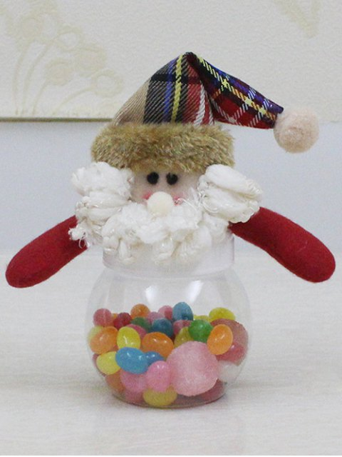 fashion Christmas Cute Plush Santa Toy Candy Jar -   Mobile