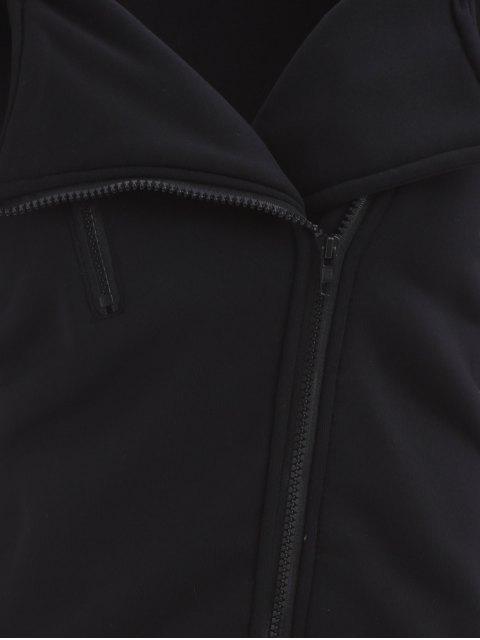 latest Zip Through Hoodie - BLACK S Mobile