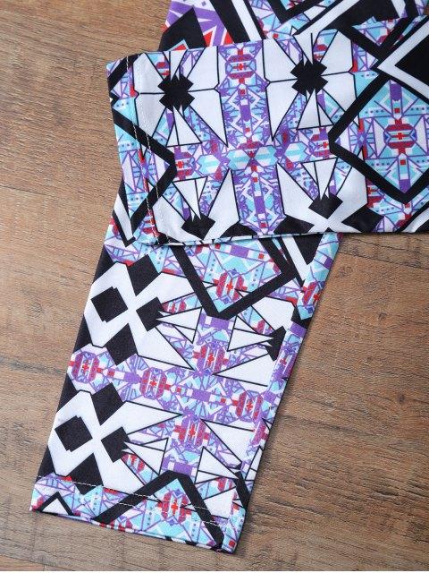 buy Geometric Leggings - COLORMIX L Mobile