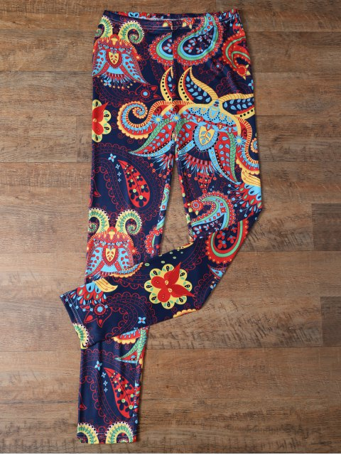 fancy Slimming Paisley Leggings - COLORMIX L Mobile